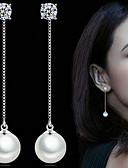 abordables Sombreros de mujer-Mujer Perla Pendientes colgantes - Perla, Perla Artificial Estilo Simple, Elegante, Nupcial Plata Para Boda Fiesta Diario