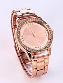 baratos Relógio Elegante-Mulheres Relógio de Moda Relógio Casual Aço Inoxidável Banda Luxo / Brilhante Prata / Dourada / Ouro Rose / Um ano / Tianqiu 377