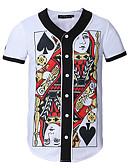 お買い得  メンズTシャツ&タンクトップ-男性用 スポーツ / ワーク - プリント Tシャツ グラフィック ホワイト XL / 半袖