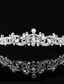 cheap Wedding Veils-Brass / Crystal / Rhinestone Tiaras with 1 Wedding / Special Occasion Headpiece