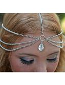 baratos Acessórios de Cabelo-Mulheres Vintage Diamante Liga Corrente para Cabelos Sólido