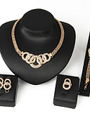 cheap Fashion Belts-Women's Bib Jewelry Set - Africa Include Necklace / Earrings / Bracelet Silver / Golden For Wedding / Party / Daily / Ring / Rings / Bracelets & Bangles