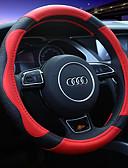 رخيصةأون ساعات الفساتين-أغطية إطارات القيادة جلد أصلي 38cm أحمر / البيج / كوفي For عالمي