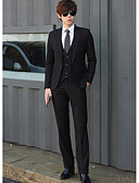 abordables Hauts pour Femme-costumes Homme-Couleur Pleine simple / Manches Longues / Travail