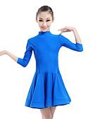 billige Trendy klokker-Latin Dans Kjoler Ytelse Chinlon Bølgemønster 3/4 ermer Naturlig Kjole