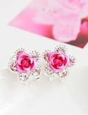 olcso Szalagavató ruhák-Női Beszúrós fülbevalók - Virág Divat Piros / Kék / Rózsaszín Kompatibilitás Esküvő Parti