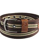 baratos Cintos de Moda-Homens Activo / Básico Cinto para a Cintura Listrado / Preto / Azul / Marrom / Verde / Cinzento