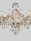 billige Ballkjoler-10-Light Candle-stil Lysekroner Opplys galvanisert Krystall Krystall 110-120V / 220-240V Pære ikke Inkludert / E12 / E14