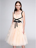 cheap Prom Dresses-A-Line Straps Knee Length Tulle Cocktail Party / Prom Dress with Flower by TS Couture®
