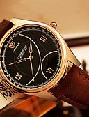 abordables Relojes de Vestir-YAZOLE Hombre Reloj de Pulsera Reloj Casual / Cool / / PU Banda Casual / Moda Negro / Marrón / SSUO 377
