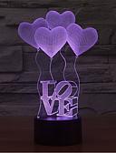 お買い得  レディースシャツ-愛のタッチ調光3d LEDの夜の光7colorful装飾雰囲気のランプノベルティ照明ライト