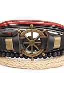 cheap Quartz Watches-Men's Leather Bracelet - Leather Punk Bracelet Brown For Daily / Casual