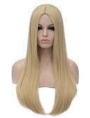 olcso Dresses For Date-Szintetikus parókák Női Szőke Szintetikus haj Szőke Paróka Hosszú Sapka nélküli # 613C