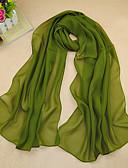 billige Modetørklæder-Dame Basale Rektangulær - Chiffon Ensfarvet