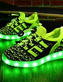 ieftine Chiloți-Băieți Pantofi Țesătură Primăvară Toamnă Pantofi Usori Confortabili Adidași LED pentru De Atletism Negru Verde Bleumarin Roșu