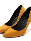 abordables Tacones de Mujer-Mujer Zapatos Tejido Primavera / Otoño Tacones Tacón Stiletto Amarillo / Fucsia / Caqui / Fiesta y Noche / Vestido / Fiesta y Noche