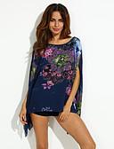 billige Bluse-Overdimensionerede Dame-Blomstret Blomster Bluse