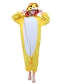 preiswerte Hochzeit Schals-Erwachsene Kigurumi-Pyjamas Löwe Pyjamas-Einteiler Polar-Fleece Gelb Cosplay Für Herren und Damen Tiernachtwäsche Karikatur Halloween Fest / Feiertage