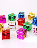 رخيصةأون تيشيرتات وتانك توب رجالي-12p جيم هدايا عيد الميلاد الديكور ofing دور شجرة عيد الميلاد الحلي اللون هدية عيد الميلاد عشوائي