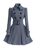 preiswerte Damenmäntel und Trenchcoats-Damen - Solide Grundlegend Mantel, Hemdkragen