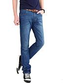abordables Pantalones y Shorts de Hombre-Hombre Algodón Corte Recto Delgado Vaqueros Pantalones - Un Color