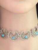 preiswerte Damen Schals-Damen Türkis Glasperlen Halsketten - Türkis Personalisiert, Retro, Böhmische Modische Halsketten Schmuck Für Hochzeit, Party, Alltag