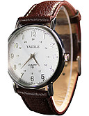 cheap Quartz Watches-YAZOLE Women's / Couple's Wrist Watch Casual Watch / Cool / / PU Band Vintage / Casual Black / White / Red
