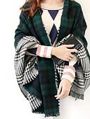 abordables Bufandas de Moda-Mujer Rectángulo - Vintage A Cuadros / Otoño / Invierno
