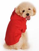 رخيصةأون تيشيرتات وتانك توب رجالي-قط كلب هوديس ملابس الكلاب سادة أسود برتقالي رمادي أحمر قطن كوستيوم للحيوانات الأليفة للرجال للمرأة كاجوال/يومي الرياضات