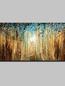 billige Cocktailkjoler-Hang-Painted Oliemaleri Hånd malede - Abstrakt Landskab Moderne Med Ramme / Stretched Canvas