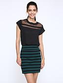 ieftine Bluză-Pentru femei Stil Nautic Bluză Mată Plasă Poliester Nailon