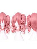 voordelige Jurken-Synthetische pruiken / Kostuum pruiken Recht Met paardenstaart Synthetisch haar Roze Pruik Dames Zonder kap