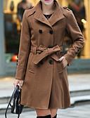 preiswerte Damenmäntel und Trenchcoats-Damen-Solide Grundlegend Übergrössen Mantel