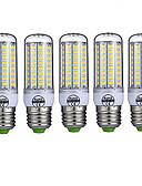 זול תחתוני גברים אקזוטיים-5pcs 10 W נורות תירס לד 980 lm E26 / E27 T 72 LED חרוזים SMD 5730 דקורטיבי לבן חם לבן קר 220-240 V / חמישה חלקים / RoHs