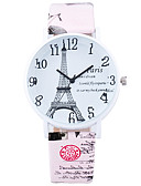 preiswerte Modische Uhren-Damen Armbanduhr Armbanduhren für den Alltag / Cool / / Leder Band Freizeit / Modisch Schwarz / Weiß / Blau / Ein Jahr / SSUO LR626