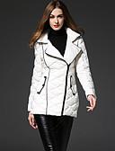abordables Vestidos de Mujeres-coatsimple sólido blanco abajo de las mujeres frmz alcanzó su punto máximo de la solapa de la manga larga