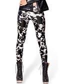 baratos Calças Femininas-Mulheres Esportivo Estampada Legging - Animal, Estampado