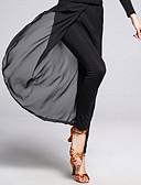 hesapli Caz Dansı Giysileri-Latin Dansı Alt Giyimler Kadın's Eğitim Şifon / Włókno mleczne Ayrık Ön Kolsuz Doğal Pantalonlar