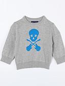 tanie Sukienki dla dziewczynek-Sweter /  sweter rozpinany Bawełna Codzienny Jendolity kolor Jesień Gray