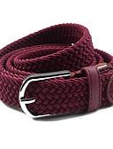 cheap Fashion Belts-Women's Dress Belt Fabric Alloy Skinny Belt - Solid Colored Shiny Metallic Fashion