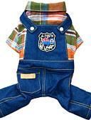 preiswerte Socken & Strumpfwaren-Hund Overall / Jeansjacken Hundekleidung Jeans Orange / Rose Baumwolle Kostüm Für Haustiere Herrn / Damen Cowboy / Modisch