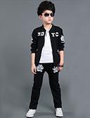 tanie Zestawy ubrań dla chłopców-Dla chłopców Sport Nadruk Długi rękaw Bawełna Komplet odzieży