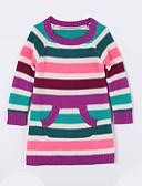 voordelige Meisjeskleding-Dagelijks Gestreept Katoen Herfst Trui & Vest Paars