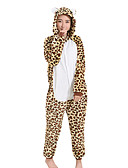 お買い得  メンズフーディー&スウェットシャツ-きぐるみパジャマ つや消しブラック ワンピースパジャマ コスチューム ベルベットミンク Brown コスプレ ために 成人 動物パジャマ 漫画 ハロウィン イベント/ホリデー