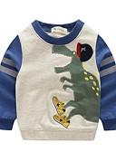 זול חליפות שני חלקים לנשים-קפוצ'ון וטרנינג כותנה אביב סתיו שרוול ארוך יומי הדפס חיות בנים סרט מצוייר כתום ירוק כחול