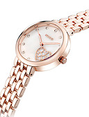 billige Modeure-KEZZI Dame Armbåndsur Quartz Hot Salg Sej / Rustfrit stål Bånd Analog Heart Shape Afslappet Mode Sølv / Rose Guld - Sølv Rose Guld