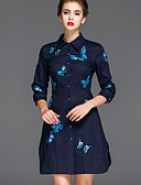 cheap Women's Dresses-Mary Yan & Yu Women's Chinoiserie A Line Dress - Embroidered Shirt Collar