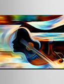 olcso Blúz-Kézzel festett Absztrakt Függőleges, Európai stílus Modern Vászon Hang festett olajfestmény lakberendezési Egy elem