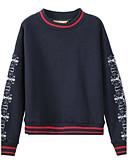 voordelige Damesbroeken en rokken-Dames Sweatshirt - Print, Effen
