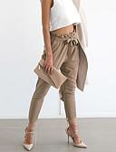 baratos Calças Femininas-Mulheres Moda de Rua Cintura Alta Delgado Jeans Calças - Sólido
